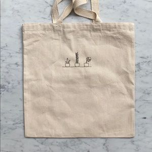 Plants Tote - Embroidered Cotton Canvas